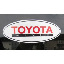 "4"" Oval Toyota Minis Reflective Sticker"